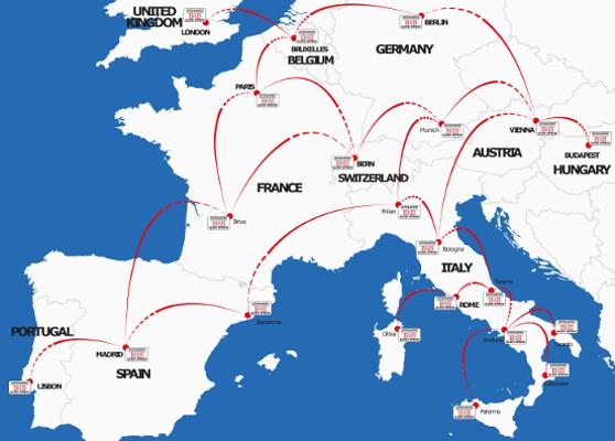 i nostri hubs europa